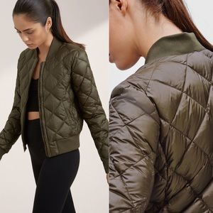 Aritzia Parklife Down Feather Quilted Bomber Coat